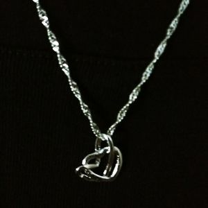 🆕Double heart .925 silver necklace